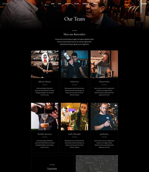 Bar and Pub members Joomla template - T4 Bar