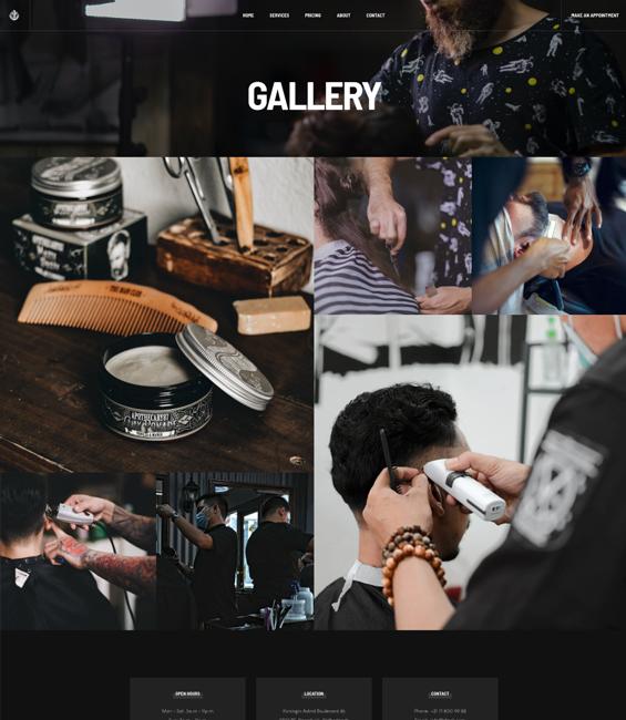 Barber gallery Joomla template