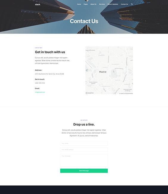 Business contact Joomla template - T4 Biz