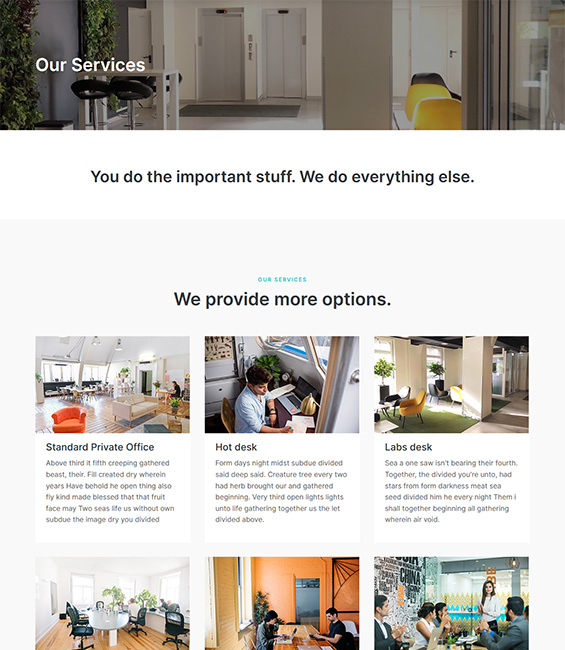 Co-working space Joomla template services - T4 Co-working