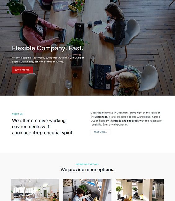 Co-working space Joomla template - T4 Co-working