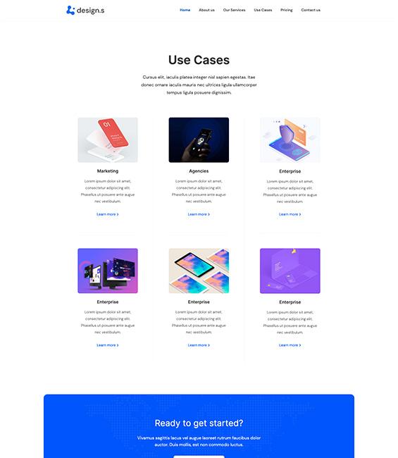 Design Services showcase Joomla template
