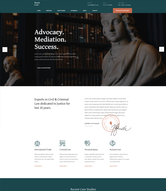 Law firm Joomla