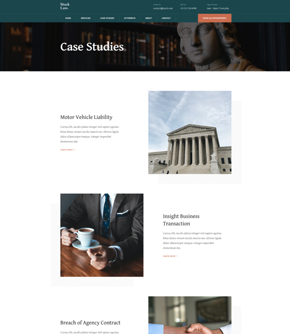 Law firm case studies Joomla template