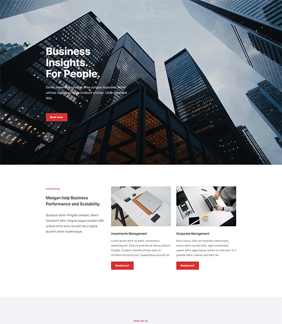 Business Joomla template - T4 Morgan