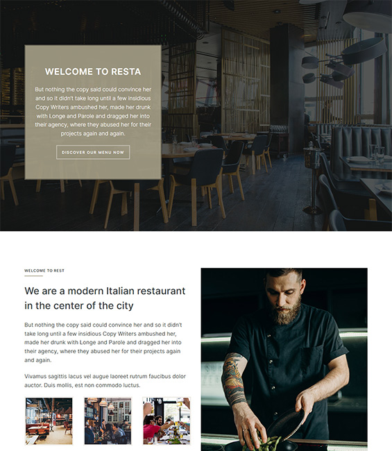 Restaurant Joomla template - T4 Restaurant