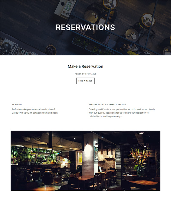 Restaurant reservations Joomla template - T4 Restaurant