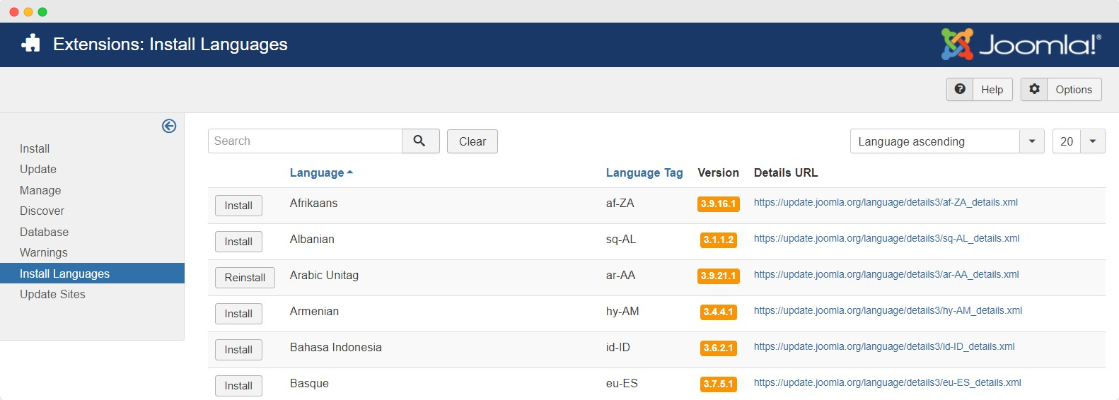 t4 builder joomla template multilinguage settings
