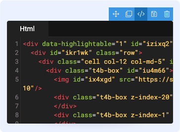 Joomla page builder customize HTML