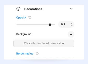 Joomla page builder decoration configuration