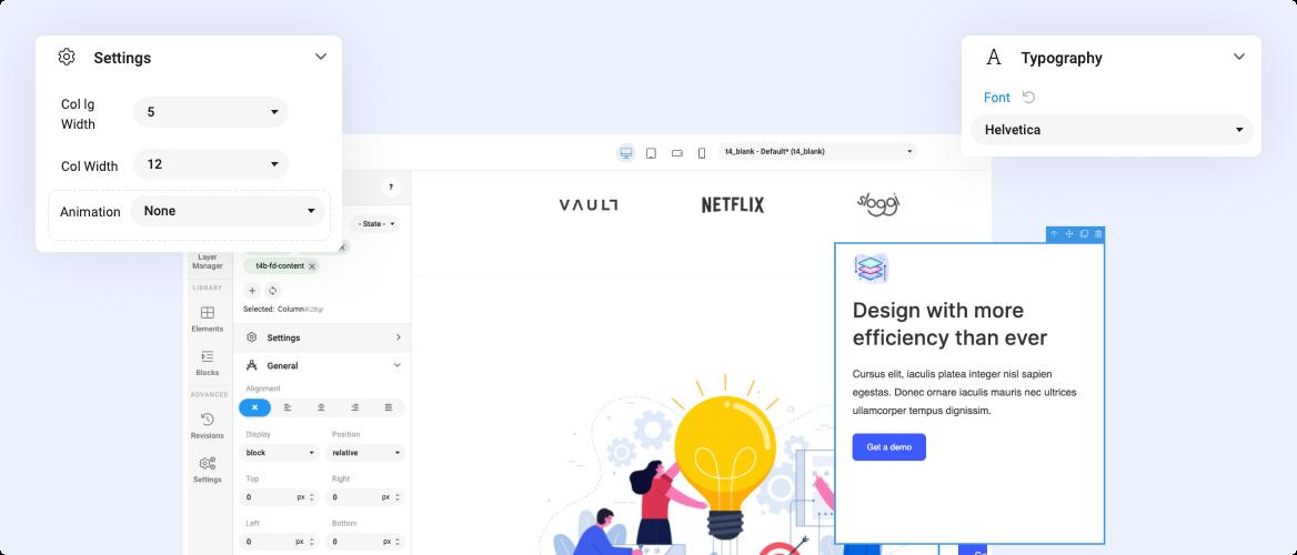 Joomla page builder visual design