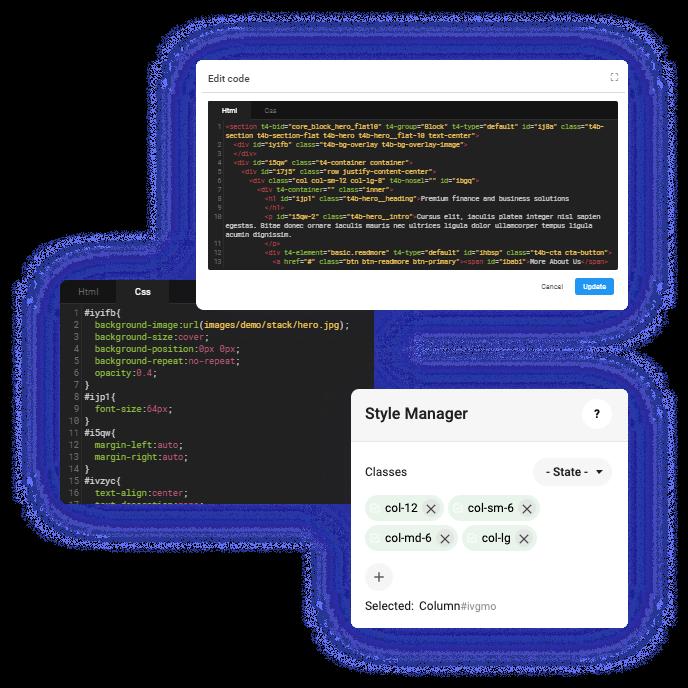 T4 Joomla page builder custom code